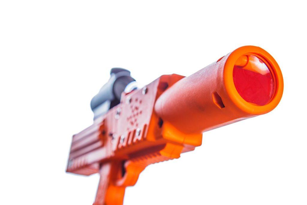 Orange razorback laser tag rifle pistol tagger gun by Elite Laser Tag Equipment