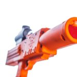 Orange razorback laser tag rifle pistol tagger gun by Elite Laser Tag Equipment