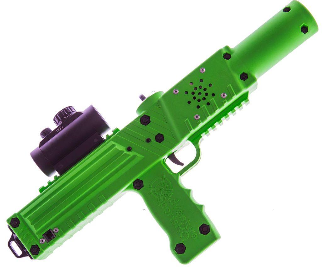 Green razorback laser tagger - Elite Laser Tag Equipment