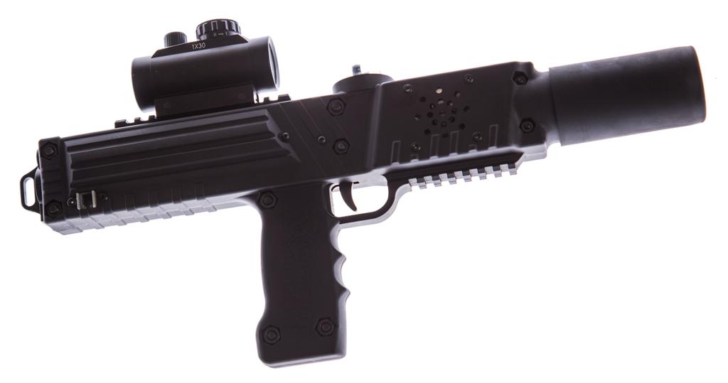 Black razorback laser tagger - Elite Laser Tag Equipment