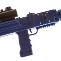 Blue razorback laser tag tagger rifle gun equipment sales by Elite Laser Tag