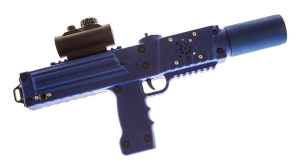 Blue razorback laser tag tagger rifle gun equipment sales by Elite Laser Tag
