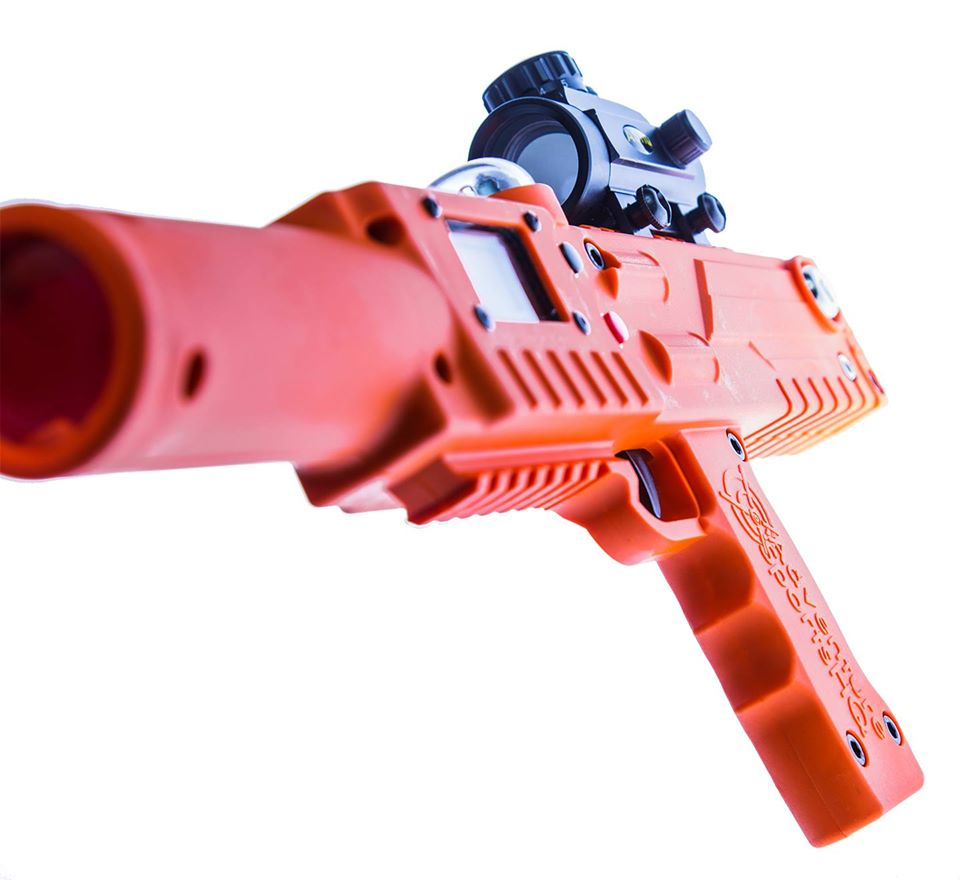 Razorback laser tag tagger gun rifle closeup - Elite Laser Tag equipment