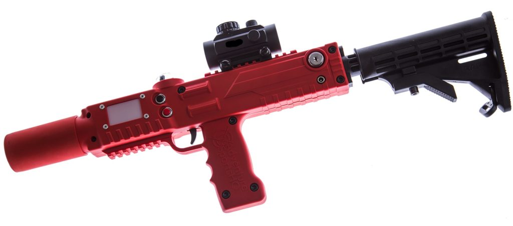 Red Razorback laser tagger laser tag rifle equipment by Elite Laser Tag