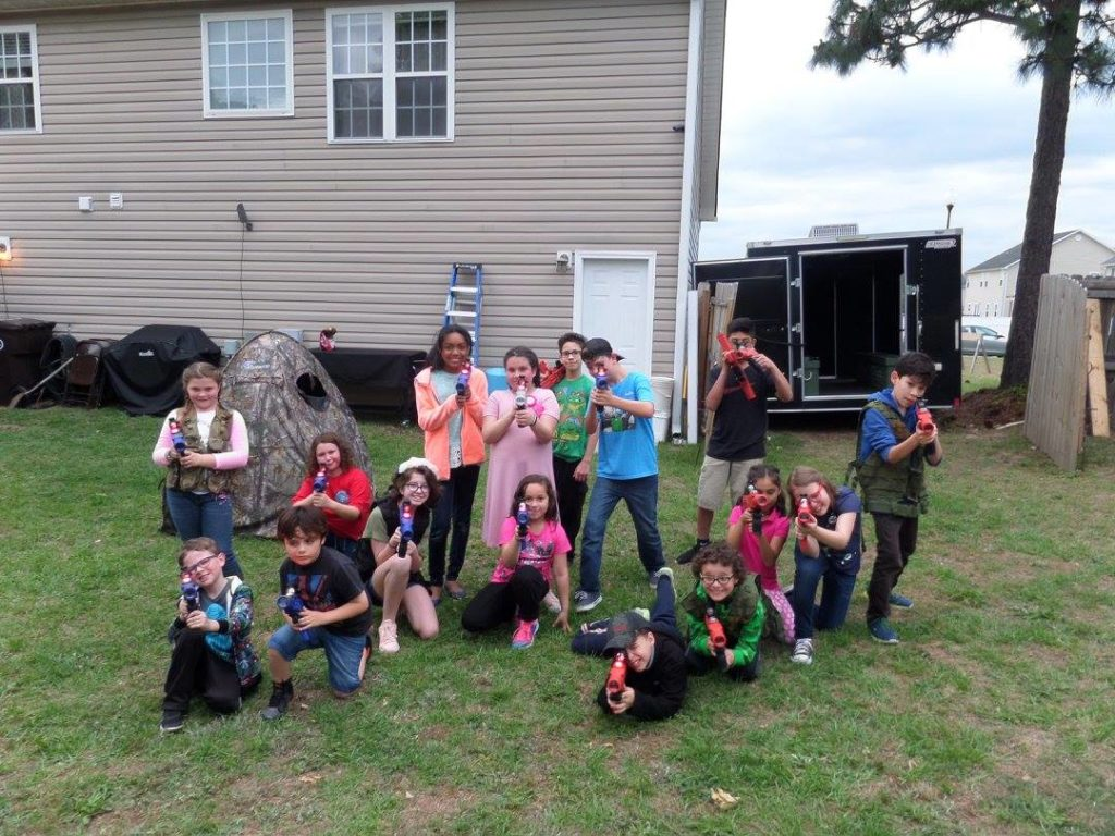 Mobile laser tag business birthday party