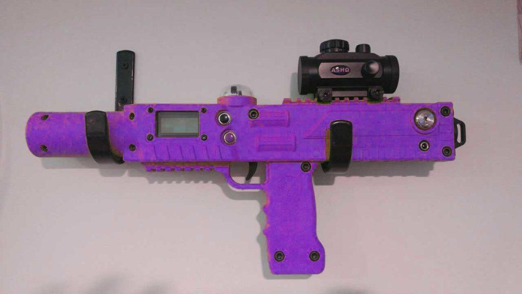 razorback laser tagger in purple - Elite Laser Tag Equipment