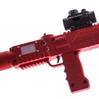 Red razorback laser tagger - Elite Laser Tag Equipment